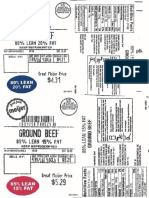 Beef Recall Labels