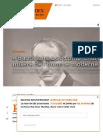 """""""Baudelaire a su comprendre la misère de l'homme moderne"""" - Revue Des Deux Mondes"""