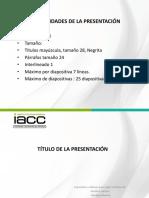 Pauta Estructura de Presentación PPT