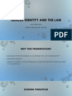 Gender Identity and the Law