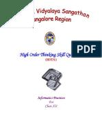 HOTS IP XII 2009 10 Banglore Region