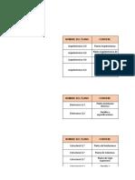 Inventario de Planos Del Proyecto de Edificaciones