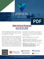 HSS 2019 Student Flyer