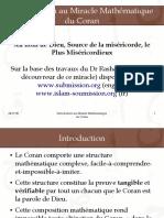 Miracle Mathématique Du Coran