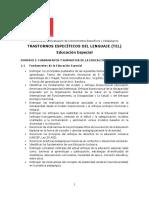 2018.Ed. Especial Trastornos Específicos Del Lenguaje