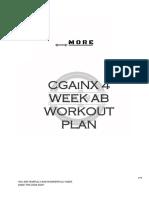 CGAiNX 4 Week Ab Workout Plan