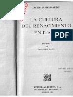 BURCKHARDT, JACOB - La Cultura del Renacimiento en Italia [por Ganz1912].pdf