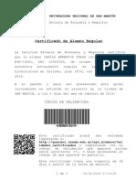 Certificado Alumno Regula