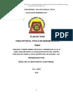 PLAN DE TESIS ANALISIS Y DISEÑO SISMICO ESTATICO Y DINAMICO DE LA I.E. N 22485, PARA MEJORAR LA CALIDAD EDUCATIVA DEL CENTRO POBLADO DE YAURILLA, EN EL DISTRITO DE LOS AQUIJES - ICA.docx