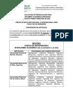 Convocatoria Intercambio Académico_Cohorte 2020-1_Fac. Ing.