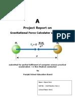Gravitation Force Calculator Using Cpp