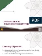 Introduction to Trigonometric Identities