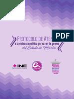 Protocolo de prevención y atención a la violencia política en razón de género del estado de Morelos.