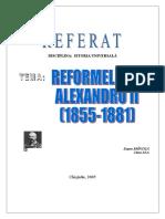 Referat Reformele lui Alexandru I