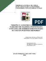 diseño y construcción de un tablero de madera postensada con losa de ferrocemento para su uso en .pdf