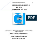 Mollebaya Plan de Gobierno de Moises Elmer Velasquez Rodriguez