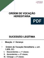 Aula nº 5 - Ordem de Vocação Hereditária.ppt