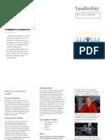 leadership brochure