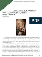 Elementos Para Una Teoría de La Potencia Destituyente _ Artillería Inmanente
