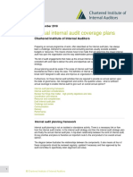 Annual internal audit coverage plans