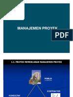 Persentase manajemen proyek universitas pancabudi medan