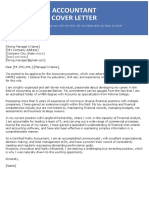 Accountant Cover Letter 2018 Blue