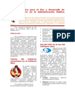 Política Pública para el Uso y Desarrollo de Software Libre en la Administración Pública