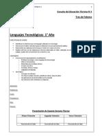 Cuadernillo Lenguajes Tecnológicos 1