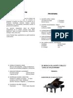 Programa de Audición de Clases de Piano
