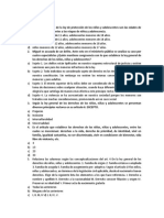 Cuestionario Ley General de Los Niños y Adolescentes