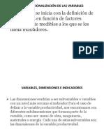 Operacionalizacion de Las Variables 2019