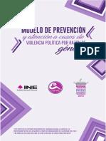 Modelo de prevención y atención a casos de violencia política por razón de género.