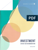 Democracy Alliance Spring 2019 Investment Strategy and Recommendations