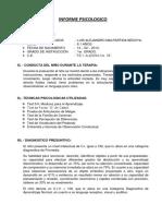 Informe Psicologico de Luis Alejandro.
