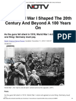 100 Years of World War 1