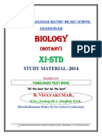 11th Std Botany One Marks