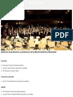 Banda Sinfónica Municipal - Profesores y profesoras - Ayuntamiento de Madrid