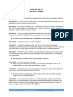 Law Sales Notes Midterm (Villanueva Book)