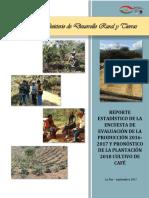 Encuesta de Evaluacion de Produccion 2016-2017 y Pronóstico 2018 de Café (Modelo)