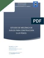 Informe mecánica de suelos SAR Penco