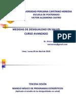 3.- Manejo Básico de Programas Estadísticos