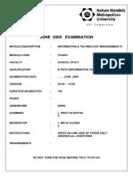 2009 June ITC4001 Paper
