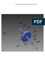 Estudio de las fuerzas en el engranaje Sol del tren planetario