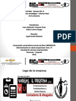Actividad 8 Diapositivas Entrega Final Informe Estrategia Empresarial VARGAS&URQUINA SAS Uniminuto Florencia Caquetá