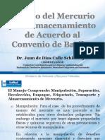 3. Manejo Del Mercurio y Su Almacenamiento de Acuerdo Al Convenio Basilea. Dr. Juan de Dios Calle, MARN