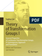 Sophus Lie_ Joel Merker (ed., transl.) - Theory of Transformation Groups I_ General Properties of Continuous Transformation Groups. A Contemporary Approach and Translation-Springer (2015).pdf