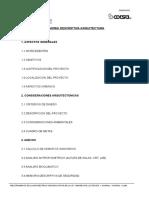 Memoria Descriptiva Arquitectura - Huaral