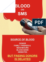 Blood on SMS Presentation