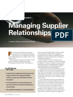 Managing supplier relationships