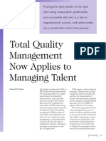 Total Quality Management Now Applies to Managing Talent 1